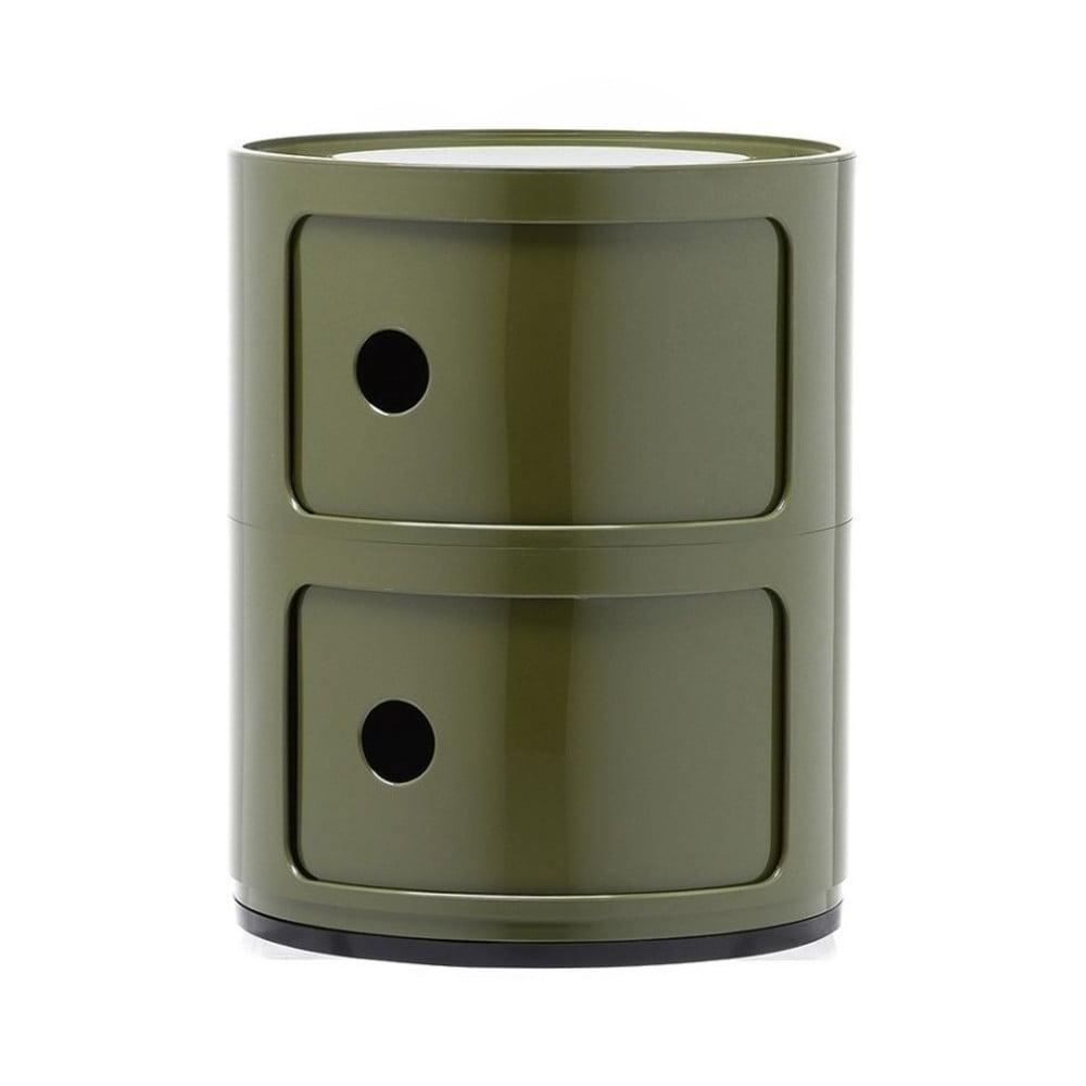 Zelený kontejner se 2 zásuvkami Kartell Componibili