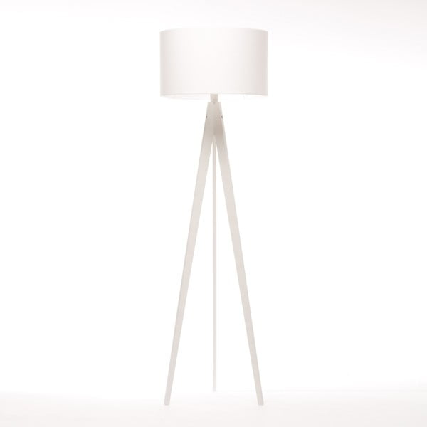 Stojací lampa Artist White Felt/White Birch, 125x42 cm