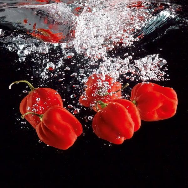 Skleněný obraz Pepper Splash, 30x30 cm