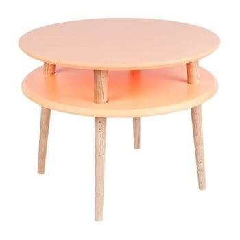 Măsuță din lemn pentru cafea Ragaba UFO Ø 57 cm, portocaliu de la Ragaba