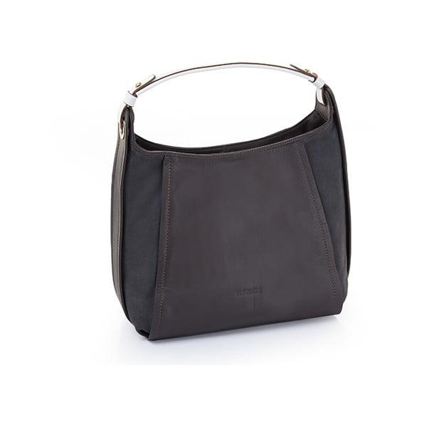 Kožená kabelka Valentini 321, tmavě modrá