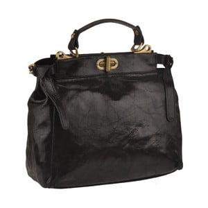 Geantă din piele Florence Bags Electra, negru