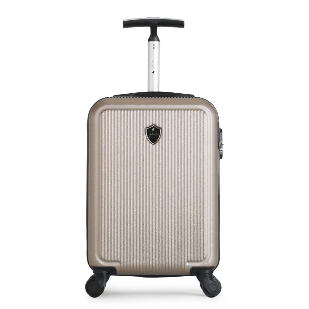 Béžový cestovní kufr na kolečkách GENTLEMAN FARMER Marbo Valise Cabine, 37 l