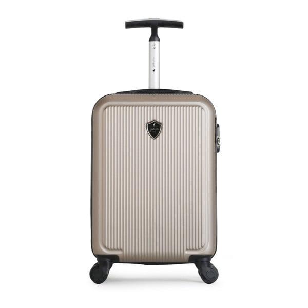 Beżowa walizka na kółkach GENTLEMAN FARMER Marbo Valise Cabine, 37 l
