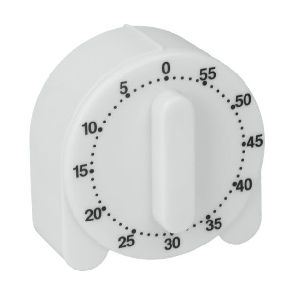 Biały minutnik kuchenny Metaltex Time