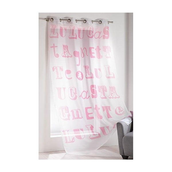 Závěs Lulu Script Rose, 140x240 cm