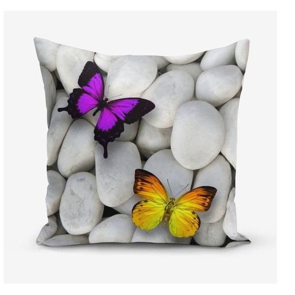 Double Butterfly pamutkeverék párnahuzat, 45 x 45 cm - Minimalist Cushion Covers