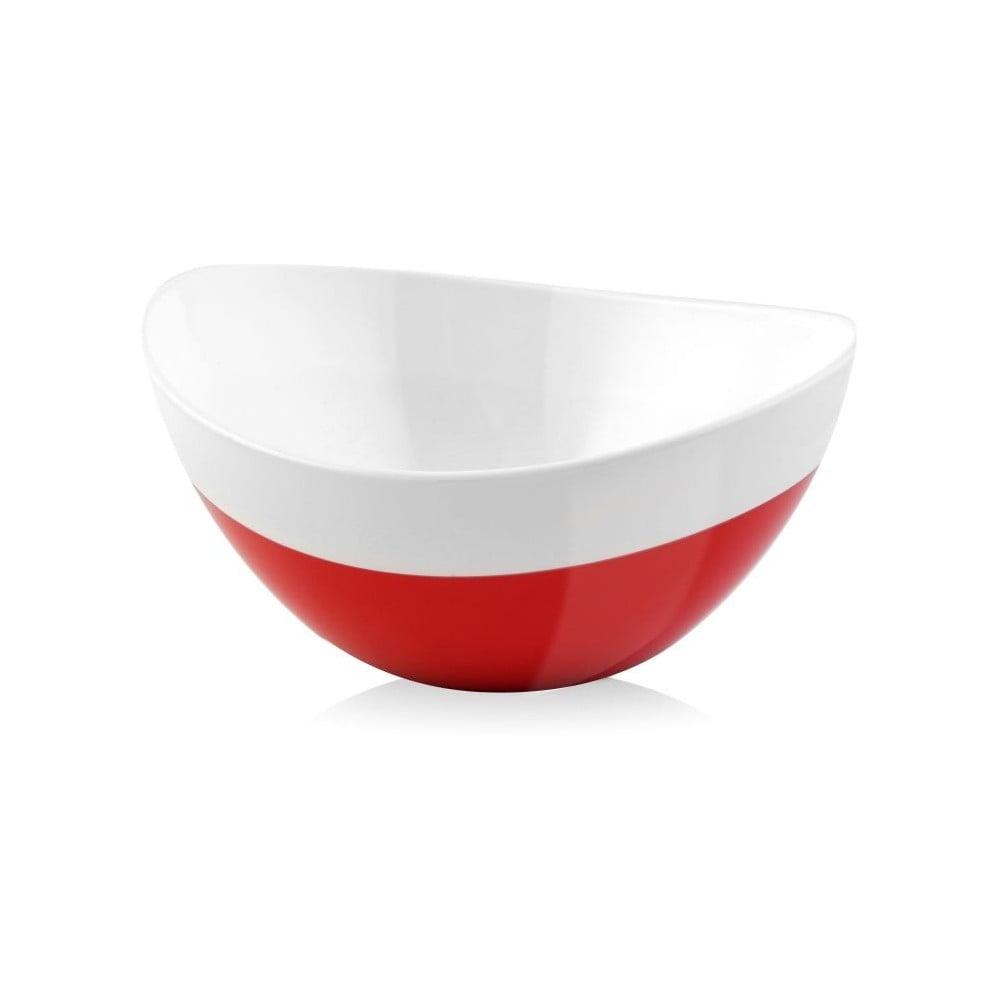 Červeno-bílá miska Livio Duo, 28 cm