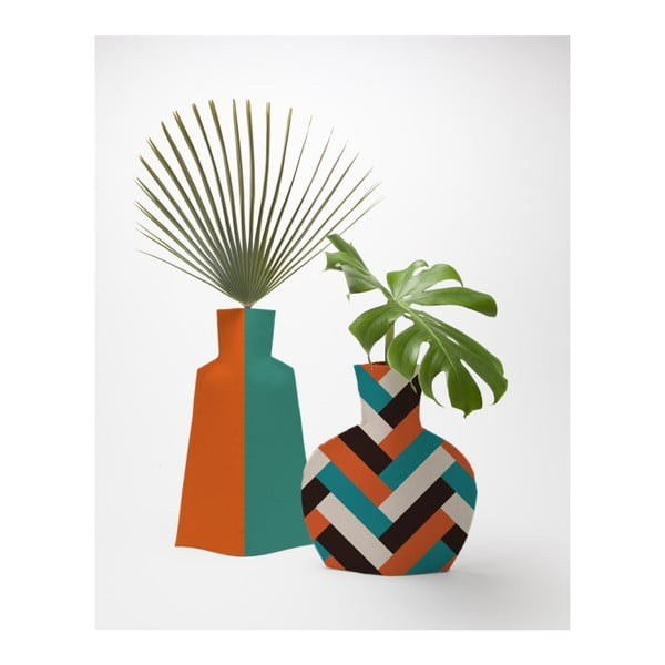 Orange Block 2 db-os textil virágváza szett - Really Nice Things