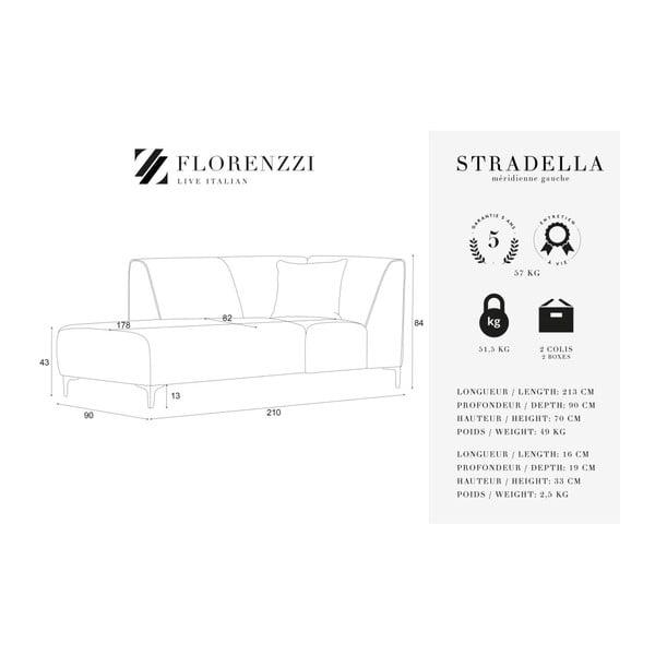 Šedá lenoška Florenzzi Stradella, levástrana