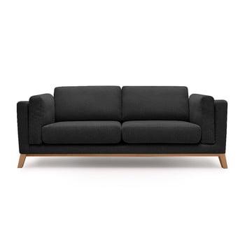 Canapea cu 2 locuri Bobochic Paris Enjoy, negru imagine