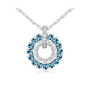 Náhrdelník s modrými krystaly Swarovski a bílým zlatem Sparkle