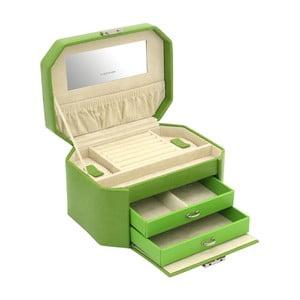 Zelená šperkovnice Friedrich Lederwaren New Candy