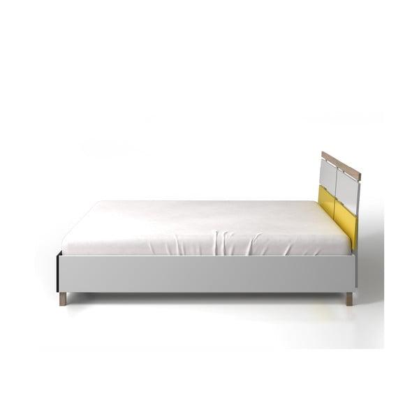 Dvoulůžková postel z borovicového a bukového dřeva SKANDICA Vaxholm, 160x200cm