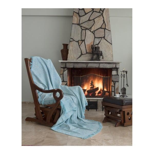 Pătură Cover Lurisso, 170 x 220 cm, verde - albastru