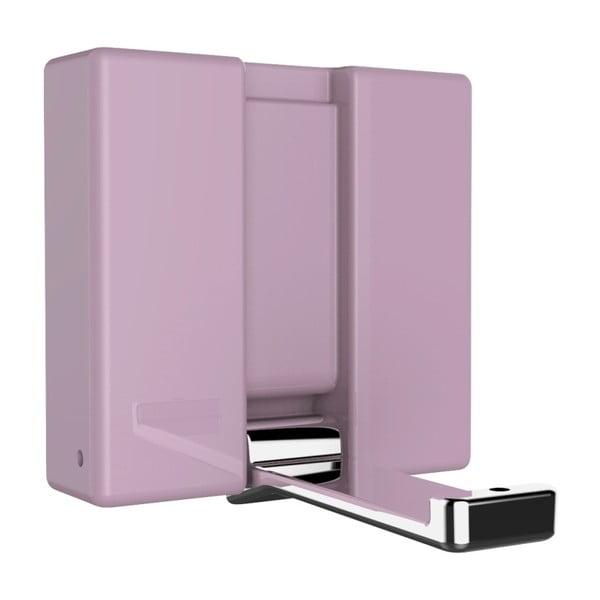 Basic ALPHA rózsaszín összecsukható fali akasztó - Wenko