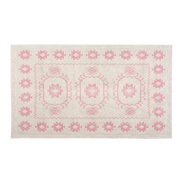 Bavlněný koberec Oni 120x180 cm, pudrový