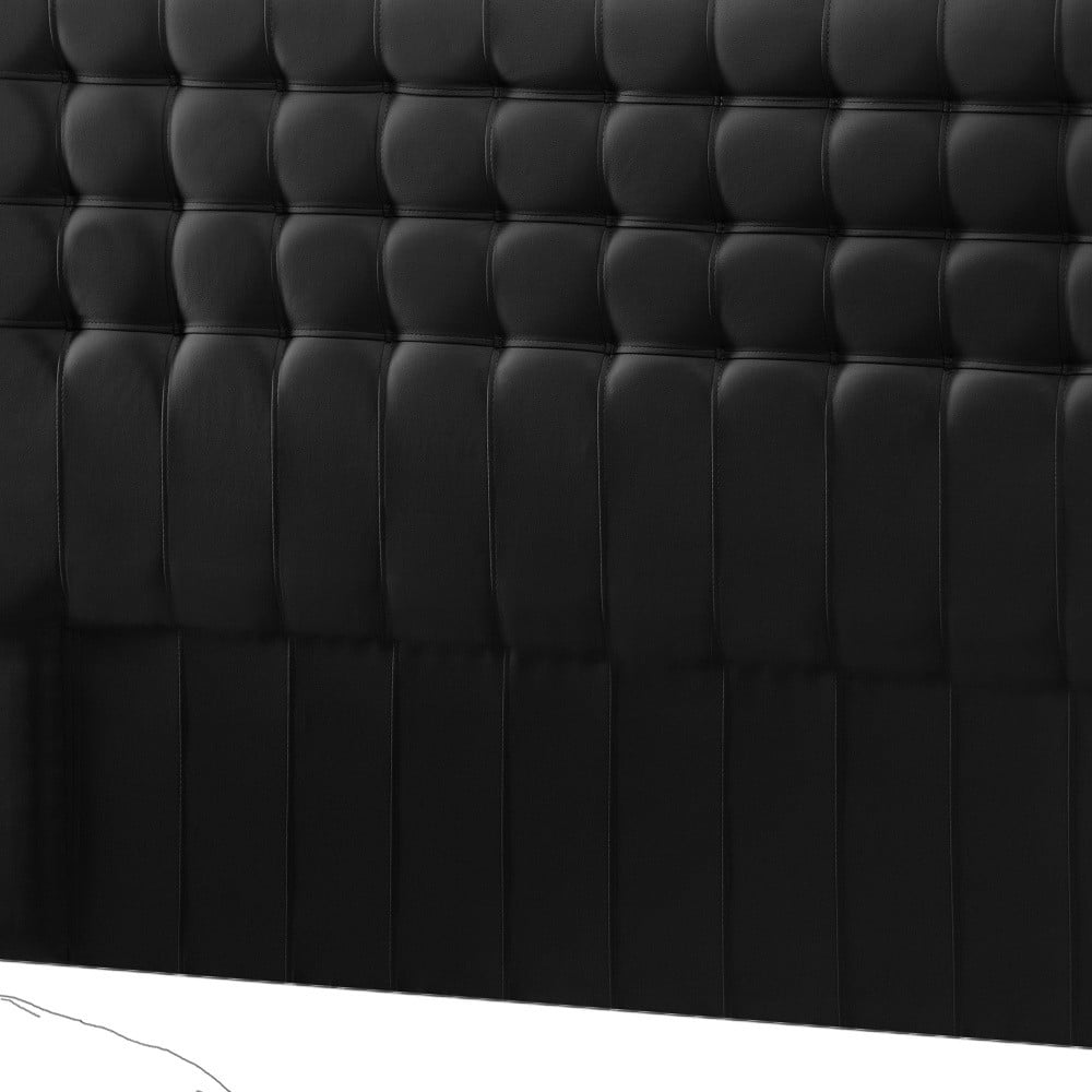 Černé čelo postele Novative Sylphyde, 160 x 118 cm