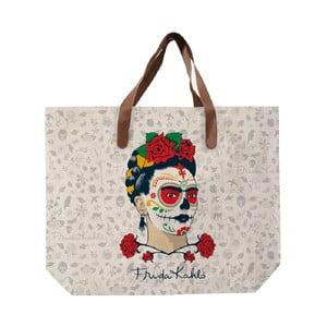 Plátěná taška Madre Selva Frida Skull, 55x40cm