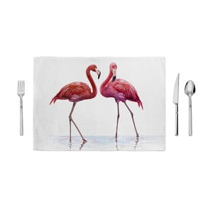 Prostírání Home de Bleu Tropical Talking Flamingos, 35 x 49 cm