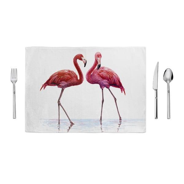 Prostírání Home de Bleu Tropical Talking Flamingos, 35x49cm