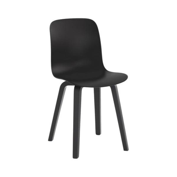 Černá jídelní židle s nohami z jasanového dřeva Magis Substance