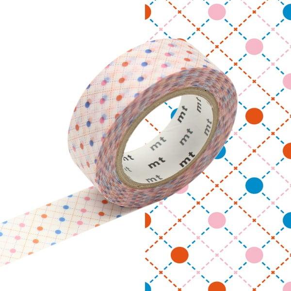 Bandă decorativă Washi MT Masking Tape Brigitte, rolă 10 m