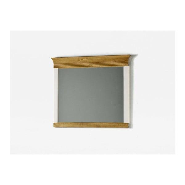 Oglindă de perete din lemn de pin OB Harald, alb