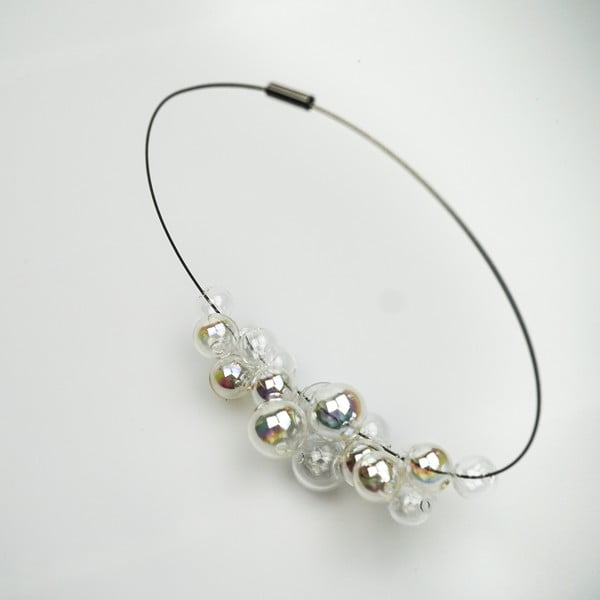 Duhový skleněný náhrdelník Ko-ra-le Neon Foam