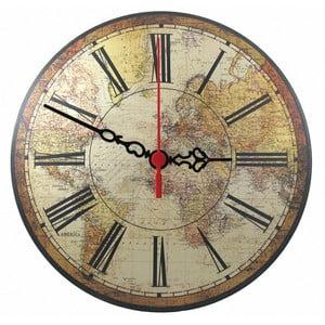 Nástěnné hodiny World Map, 30 cm