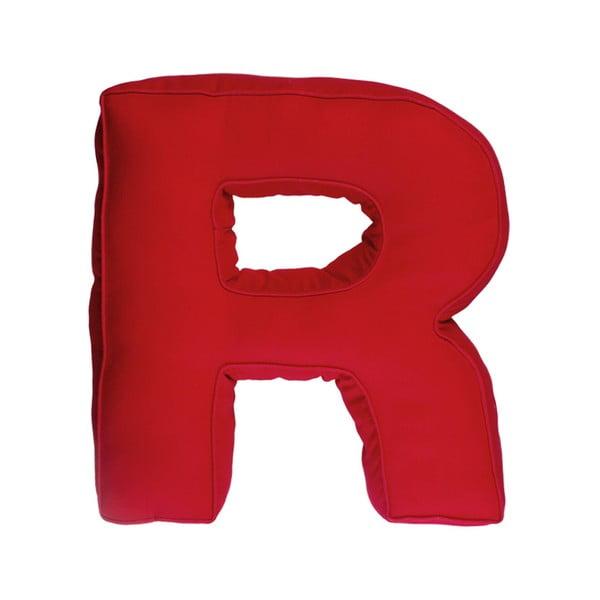 Látkový polštář R, červený