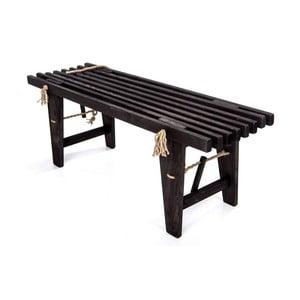 Černá lavička z borovicového dřeva EcoFurn