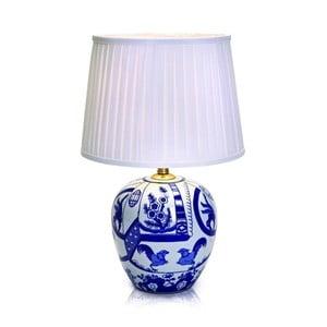 Velká modro-bílá stolní lampa Markslöjd Goteborg