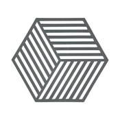 Podložka pod horké Hexagon, šedá