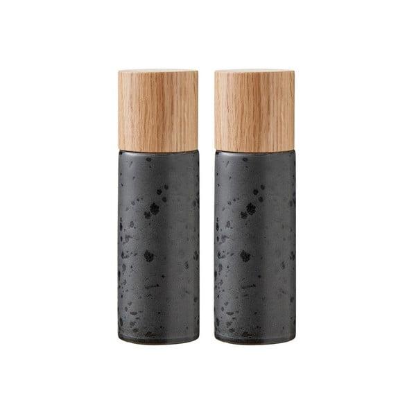 Basics Black 2 db-os fekete agyagkerámia só- és borsőrlő szett - Bitz