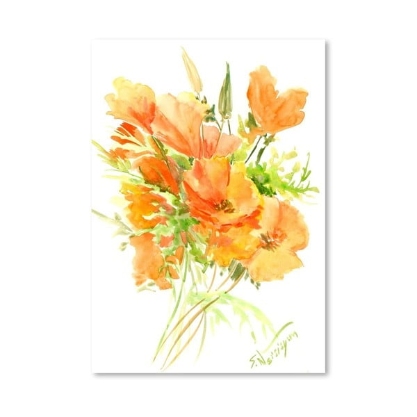Plakát California Poppies od Suren Nersisyan