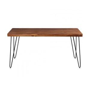 Jídelní stůl z masivního sheeshamového dřeva Skyport BAGLI, 160 x 80 cm