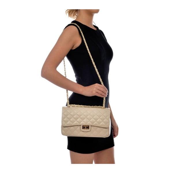 Béžová kožená kabelka IsabellaRhea Milady