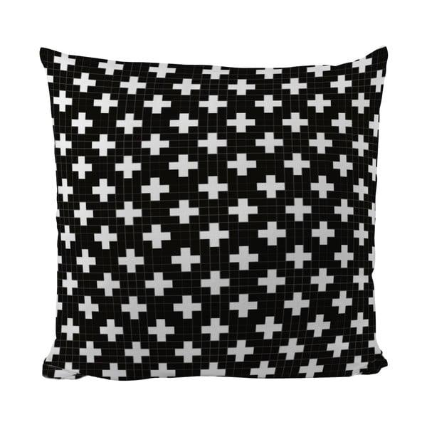 Polštářek Black Shake White Cross, 50x50 cm