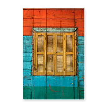 Tablou din lemn de pin Really Nice Things Colorful Window, 40 x 60 cm poza