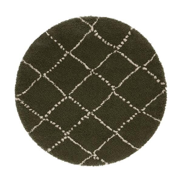 Zelený koberec Mint Rugs Hash, ⌀ 160 cm