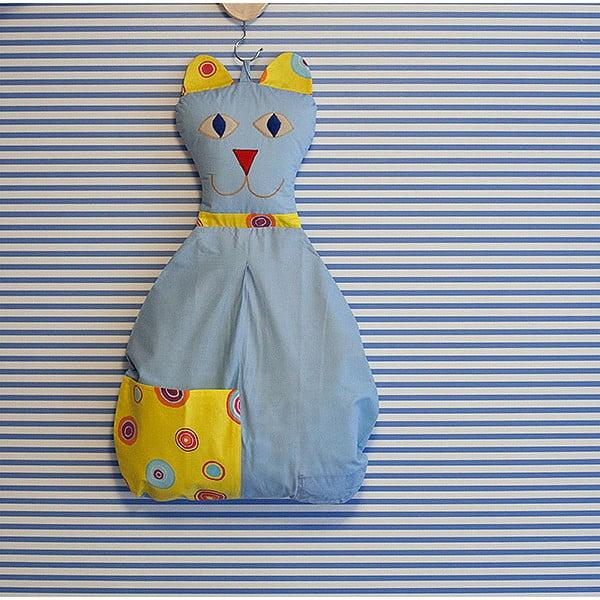 Závěsný kapsář Kočička, světle modrá