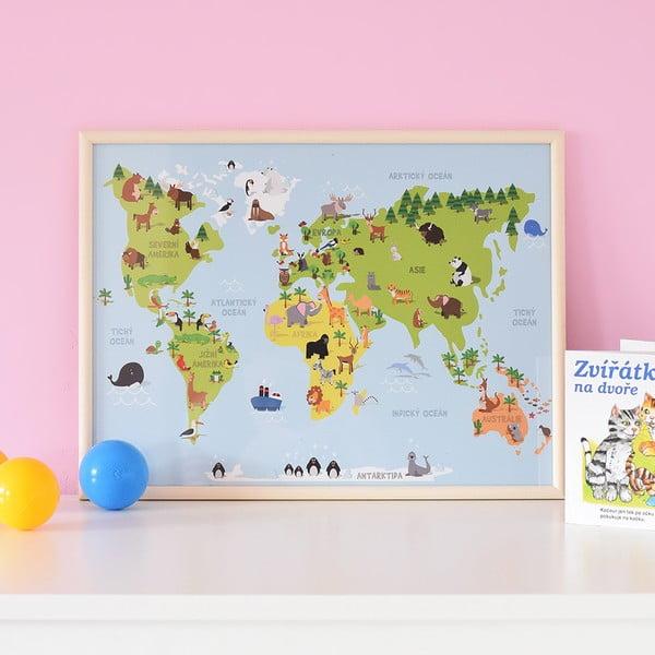 Obraz Mapa zvířátek