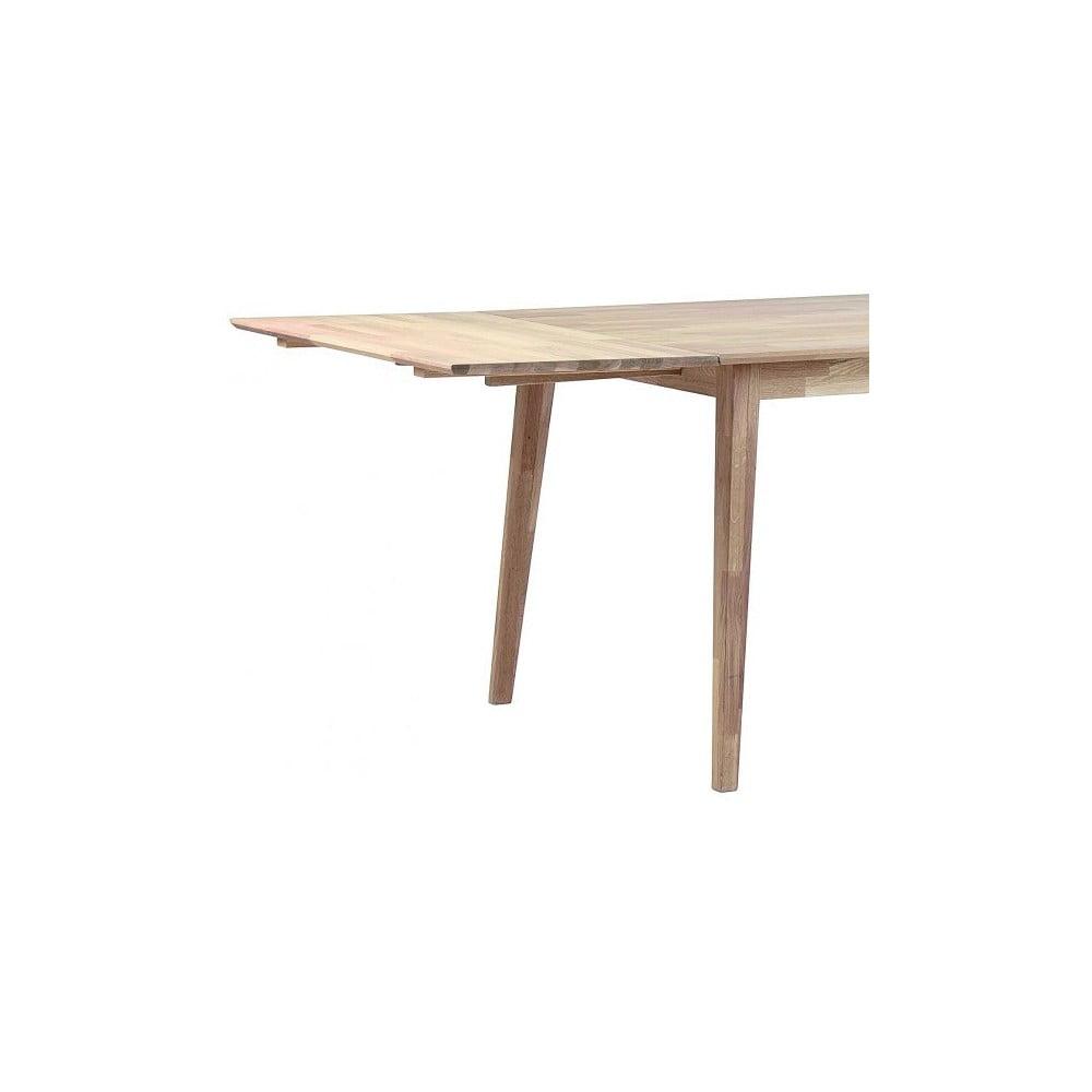 Světlá dubová deska k prodloužení rozkládacího dubového jídelního stolu Folke Mimi