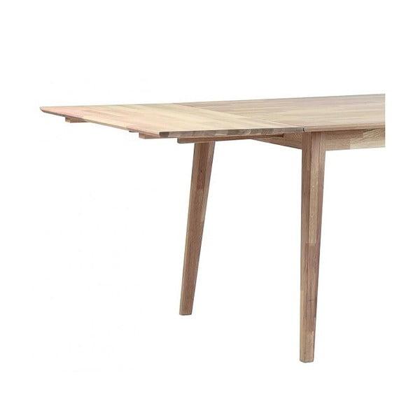 Světlá dubová deska k prodloužení rozkládacího dubového jídelního stolu Rowico Mimi
