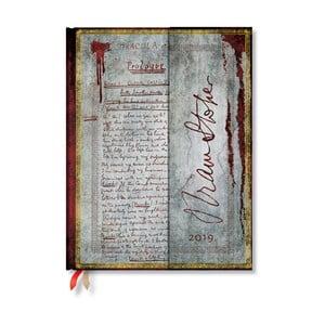 Diář na rok 2019 Paperblanks Dracula, 18 x 23 cm