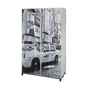 Šedá textilní skříň na šaty JOCCA New York Taxi, 156x87cm