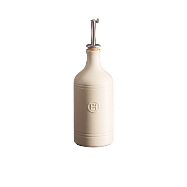 Butelka na olej w kolorze kości słoniowej Emile Henry, obj. 400 ml