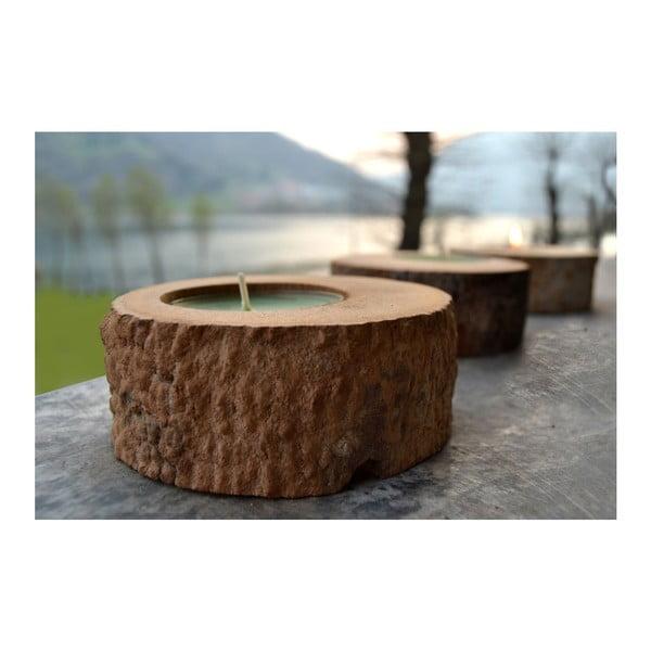 Palmová svíčka Legno Black Wood s vůní vodního květu, 80 hodin hoření