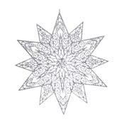 Decorațiune suspendată Ewax Adornada, ⌀ 45 cm, argintiu